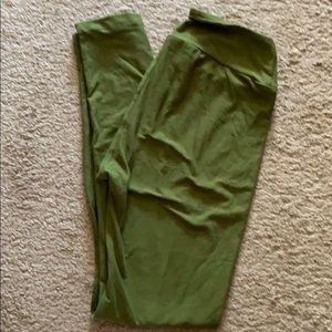One Size Lularoe Green Leggings